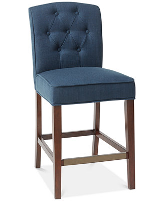Marian Tufted Counter Stool Quick Ship Furniture Macy S