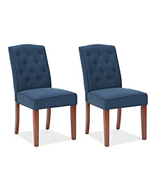 Marian Tufted Set of 2 Dining Chairs, Quick Ship