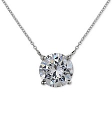 Cubic Zirconia Pendant Necklace in Sterling Silver, Created for Macy's