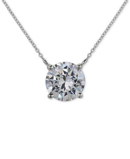 f3d1c1392abd25 ... Giani Bernini Cubic Zirconia Pendant Necklace in Sterling Silver,  Created for Macy's ...