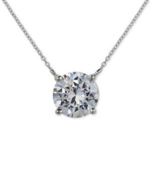 GIANI BERNINI   Giani Bernini Cubic Zirconia Pendant Necklace In Sterling Silver, Created For Macy'S   Goxip