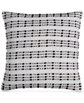"CLOSEOUT!  Linen Plaid 18"" Square Decorative Pillow, Created for Macy's"
