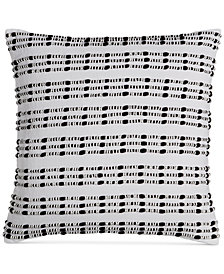 "CLOSEOUT! Hotel Collection  Linen Plaid 18"" Square Decorative Pillow, Created for Macy's"