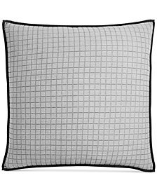 CLOSEOUT! Hotel Collection  Linen Plaid Quilted European Sham, Created for Macy's