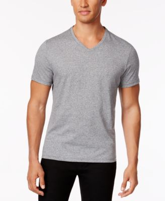 Image of Alfani Stretch Slim Fit V-Neck T-Shirt, Only at Macy's