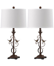Safavieh Set of 2 Birdsong Table Lamps