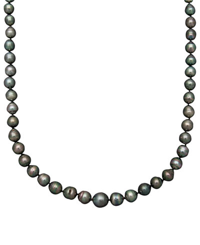 Belle de Mer Pearl Necklace, 14k Gold Cultured Tahitian