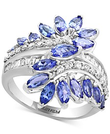 EFFY® Sapphire  (2 ct. t.w.) & Diamond (3/8 ct. t.w.) Ring in 14k White Gold (Also available in Tanzanite in 14k White Gold and Sapphire, Ruby or Emerald in 14k Gold)