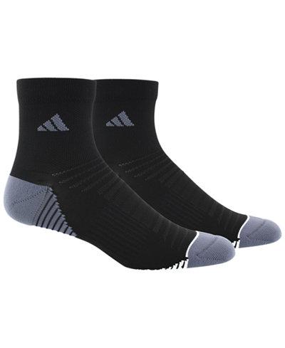 adidas Men's 2 Pack Speed Mesh ClimaLite Quarter Socks