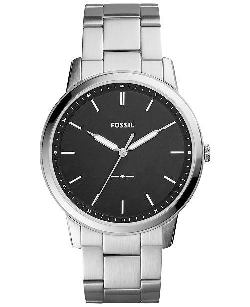 Fossil Men's The Minimalist Stainless Steel Bracelet Watch 44mm FS5307