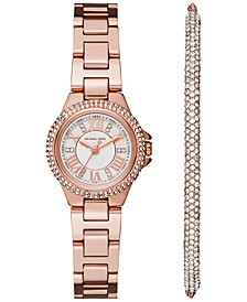 Women's Petite Camille Stainless Steel Bracelet Watch 26mm Gift Set
