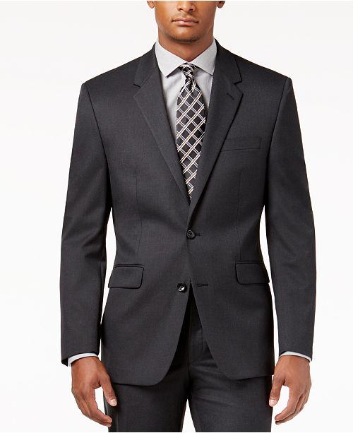 Alfani CLOSEOUT! Men's Traveler Solid Classic-Fit Jacket, Created for Macy's