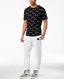 Champion Men's Script T-Shirt & Reverse Weave Sweatpants