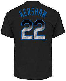 Majestic Men's Clayton Kershaw Los Angeles Dodgers Carbon Fiber Player T-Shirt