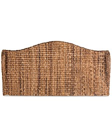 Gerena King Winged Rattan Headboard, Quick Ship