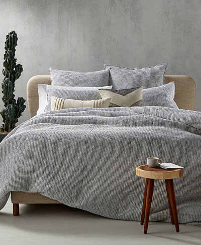 CLOSEOUT! Hotel Collection Waffle Weave Chambray Bedding Collection, Created for Macy's