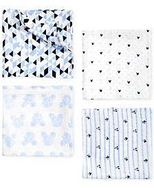 aden by aden + anais Baby Boys 4-Pk. Mickey Mouse Cotton Swaddle Blankets