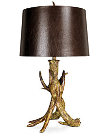 StyleCraft Three Faux Antler Table Lamp