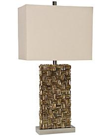 StyleCraft Mystic Capiz Square Table Lamp