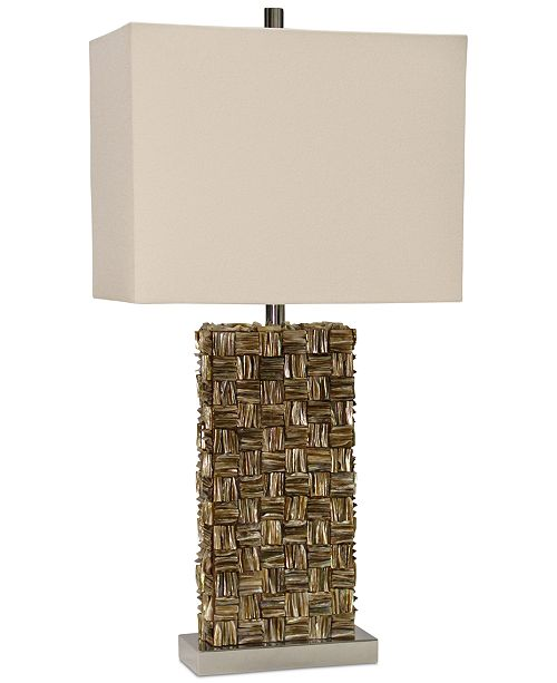 StyleCraft Mystic Capiz Square Table Lamp
