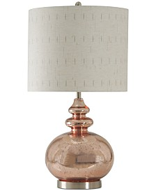 StyleCraft Rose Mercury Table Lamp