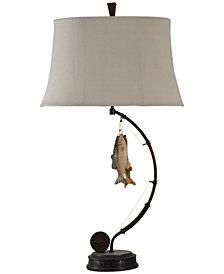 StyleCraft Gone Fishing Table Lamp