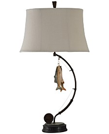 StyleCraft Gone Fishing Table Lamp