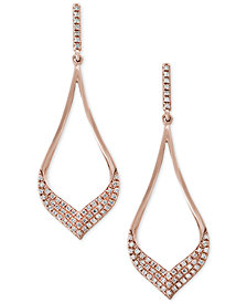 Pavé Rose by EFFY® Diamond Drop Earrings (1/3 ct. t.w.) in 14k Rose Gold