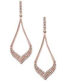 Pavé Rose by EFFY® Diamond Drop Earrings (1/3 ct. t.w.) in 14k Rose Gold