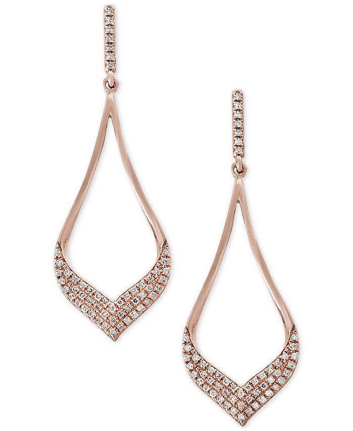 EFFY Collection - Diamond Drop Earrings (1/3 ct. t.w.) in 14k Rose Gold