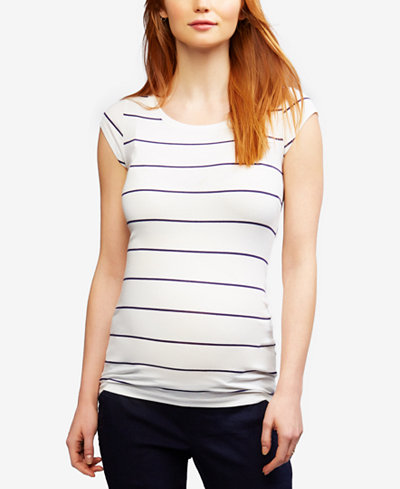A Pea In The Pod Maternity Ruched Boat-Neck Top