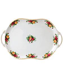 Royal Albert Old  Country  Roses  Handled Serving Platter