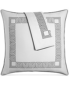 Greek Key Cotton European Sham, Created for Macy's