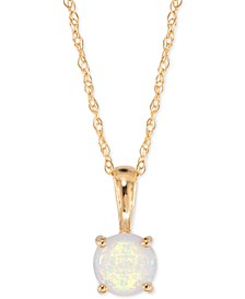 Lab-Created Opal Pendant Necklace (1/6 ct. t.w.) in 14k Gold