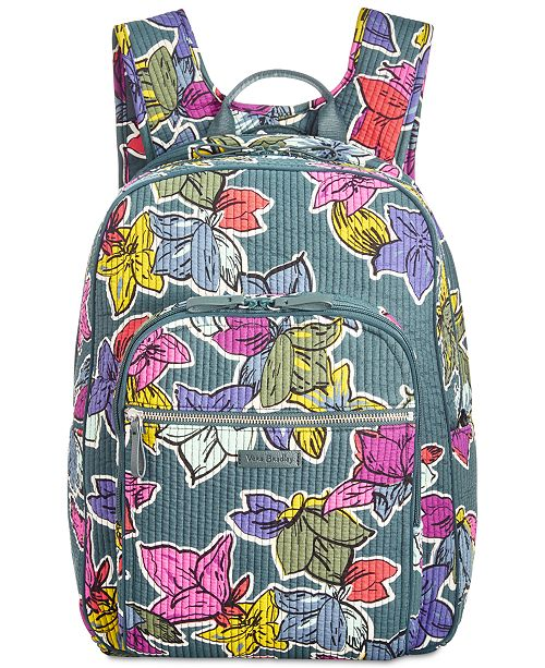 Vera Bradley Iconic Deluxe Campus Small Backpack   Reviews ... f3bd252e99228