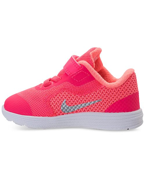 2885555287693 Toddler Girls Revolution 3 Stay-Put Closure Running Sneakers from Finish  Line.