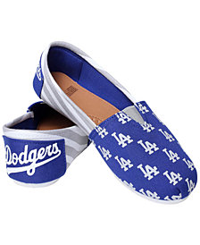 Forever Collectibles Women's Los Angeles Dodgers Canvas Stripe Shoes