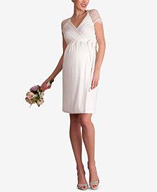 Seraphine Maternity Lace-Trim Babydoll Dress