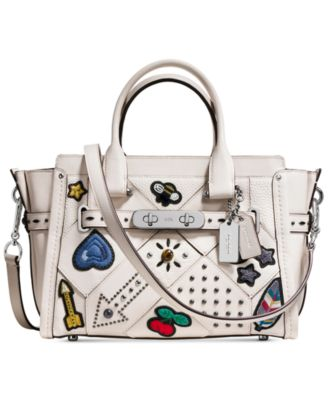 coach purses discount outlets yfrt  COACH Embellished Canyon Quilt Coach Swagger 27 in Pebble Leather