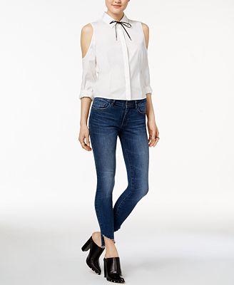 DL 1961 Emma Step-Hem Skinny Jeans