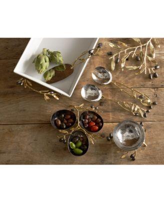 Olive Branch Gold Serving Set