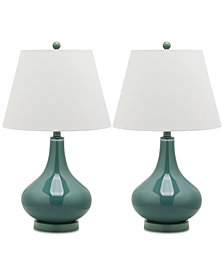 Safavieh Set of 2 Amy Gourd Table Lamps