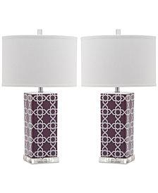 Safavieh Set of 2 Quatrefoil Table Lamps