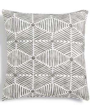 "Last Act! Hallmart Collectibles Gray Geo-Print Textured 18"" Square Decorative Pillow 4690640"