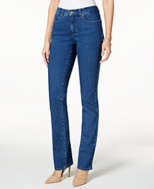 Charter Club Petite Lexington Straight-Leg Jeans, Petite & Petite Short, Created for Macy's