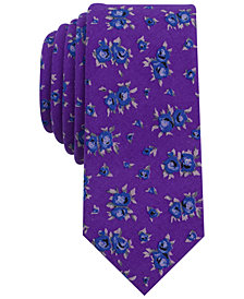 Bar III Men's Cana Floral Skinny Tie, Created for Macy's