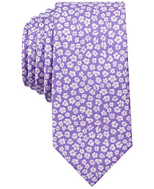 Bar III Men's Elizabeth Floral Slim Tie, Created for Macy's