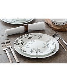 Boutique Misty Leaves 12-Piece Dinnerware Set