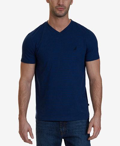 Nautica Men's Striped V-Neck T-Shirt