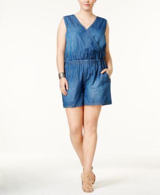 women's plus size shorts - macy's
